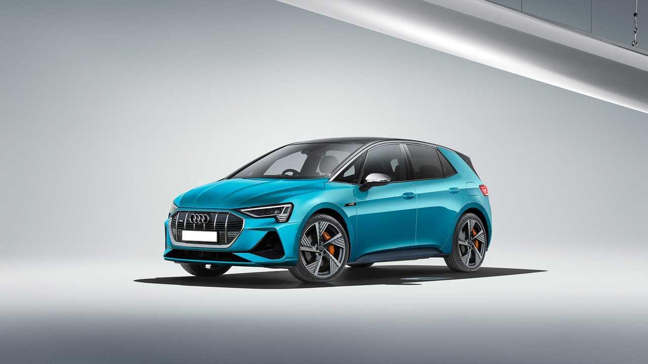 Nuova Audi e-tron Render della compatta elettrica sorella della VW ID3