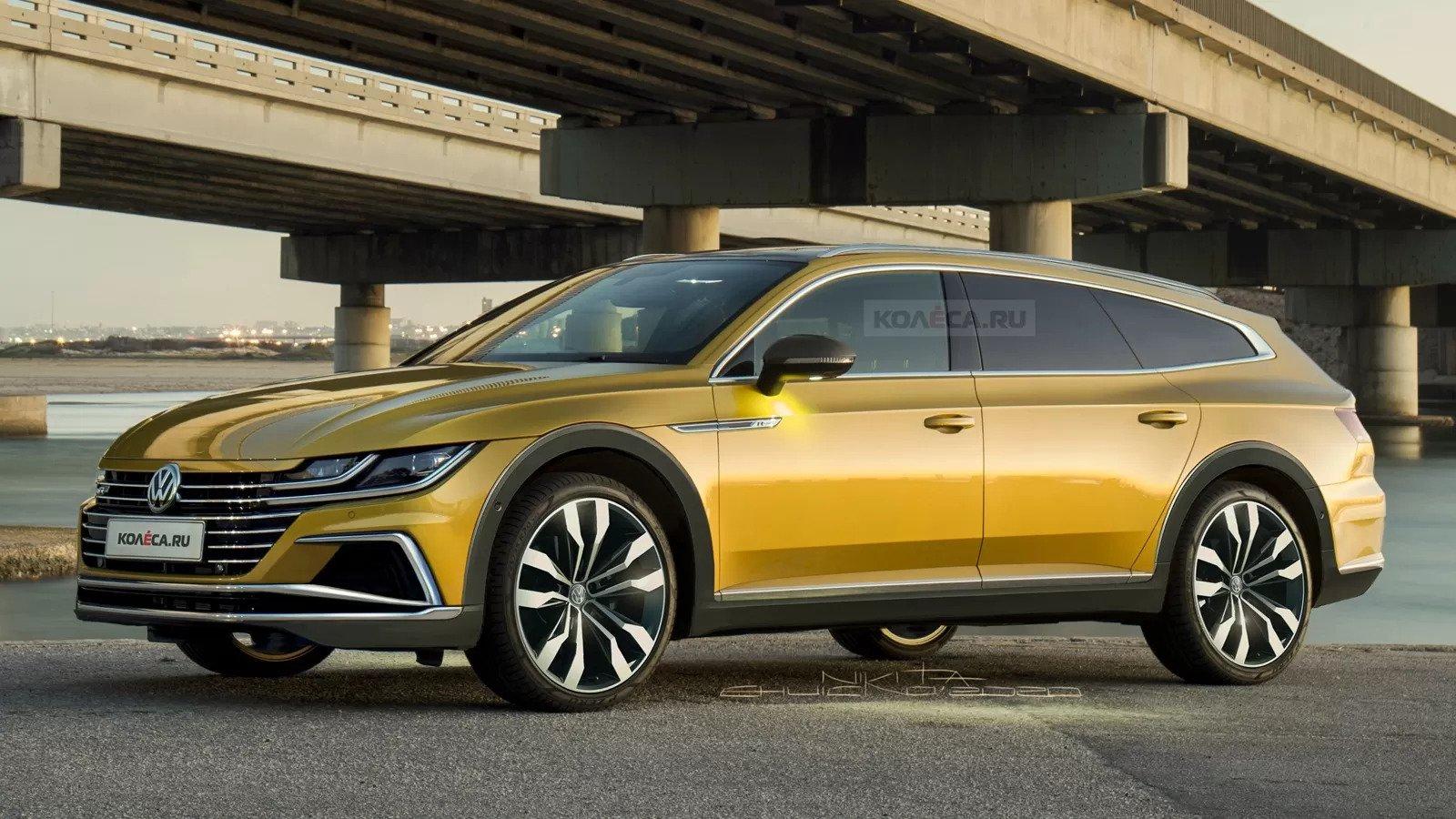Nuova Volkswagen Arteon Wagon 2020, Rendering esclusivo