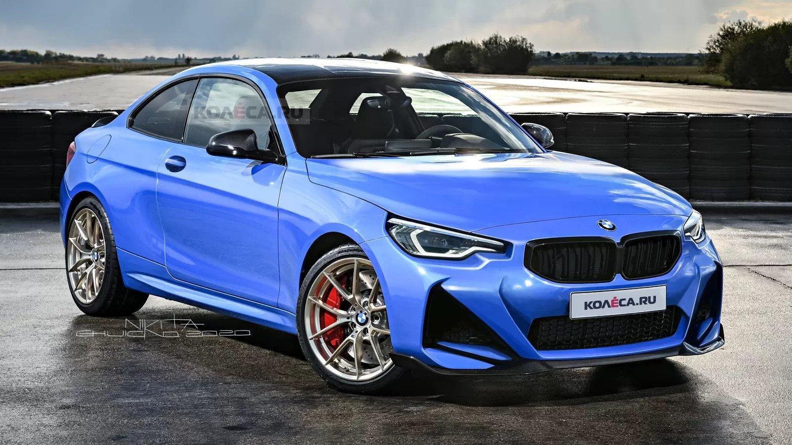 Nuova BMW M2 Coupé 2021, design in Anteprima Rendering