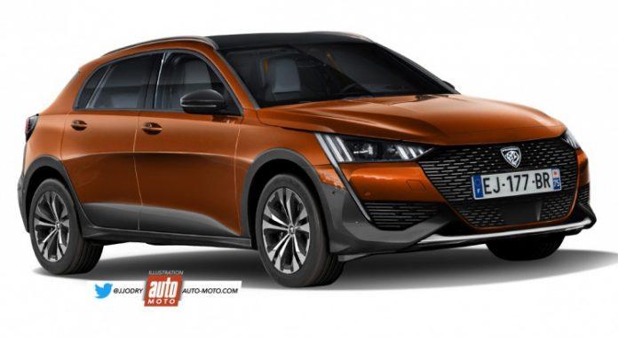 Nuova Peugeot 308 2021 sarà anche SUV, i Rendering