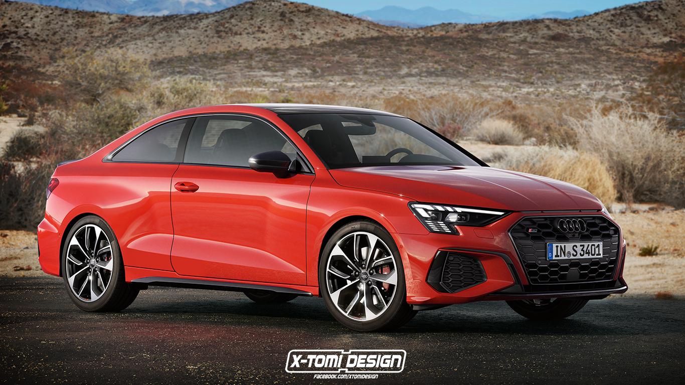 Nuova Audi A3 S3 2021, il Rendering della versione Coupé ...