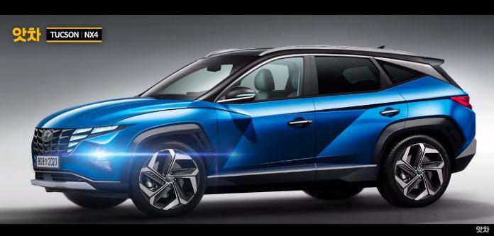 Nuova Hyundai Tucson 2021, i Rendering a colori in Anteprima