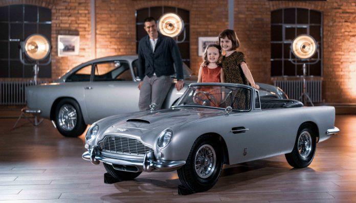 Aston Martin DB5 diventa Junior ecco la versione Elettrica per Bambini