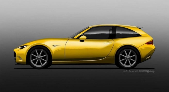 Mazda MX-5 Shooting Brake 2021, il Rendering da Sogno