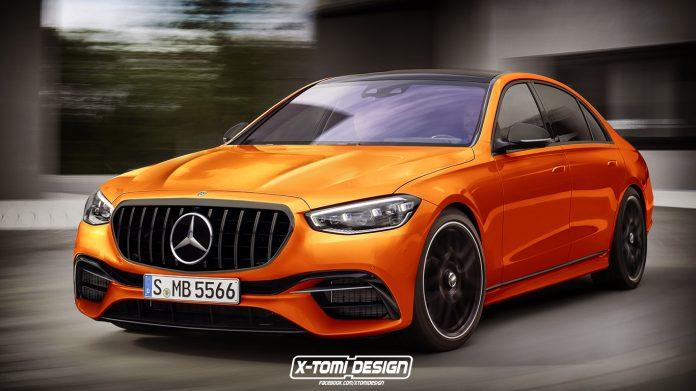 Nuova Mercedes-Benz Classe S 2021, il Rendering della versione AMG