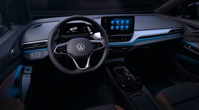 Nuova Volkswagen ID.4 2021, gli interni in Anteprima