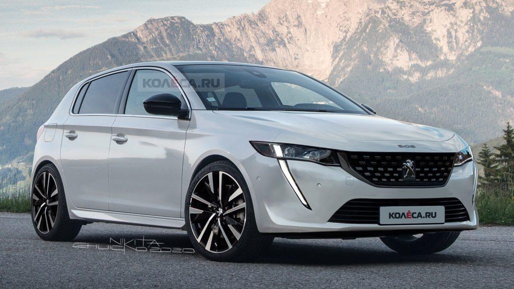 Nuova Peugeot 308 2021, i nuovi Rendering del Restyling in Anteprima
