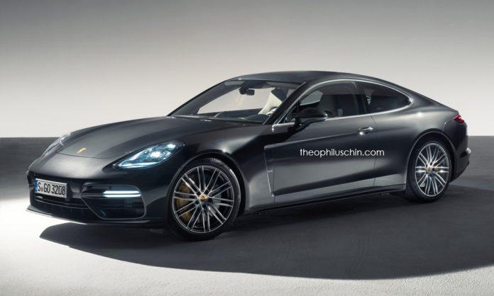 Nuova Porsche Panamera Coupé 2021, il Rendering della versione coupé