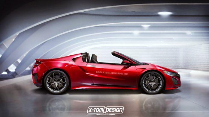 Nuova Honda NSX Cabrio 2021, il Rendering in anteprima