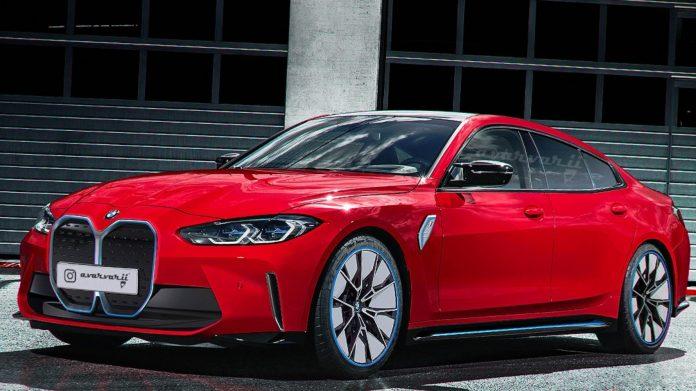 Nuova BMW i4 2021, il rendering della elettrica a 4 Porte