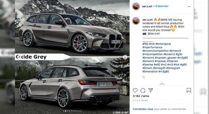 Nuova BMW M3 Touring 2021, il Rendering svela il Design in Anteprima
