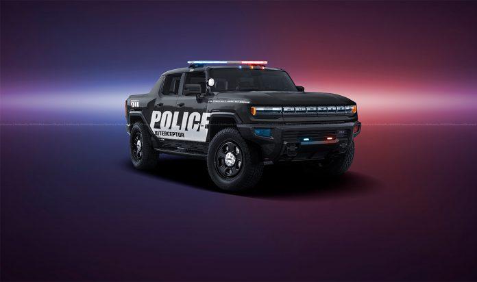 Nuova GMC Hummer 2021, i Rendering della Police Interceptor