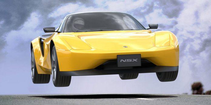 Nuova Honda NSX 2022, il Rendering con il design delle origini