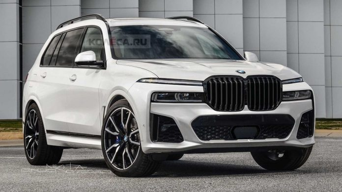 Nuova Bmw X7 2021, il Restyling in Anteprima Rendering