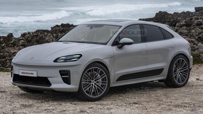 Nuova Porsche Macan 2021, il SUV elettrico in Anteprima Rendering