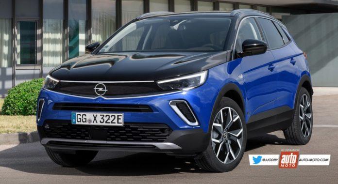 Nuovo Opel Grandland X 2021, Anticipazioni e Rendering del Restyling