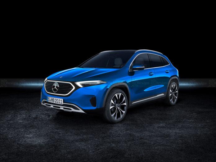 Nuova Mercedes-Benz EQA 2022, il Crossover elettrico in Rendering