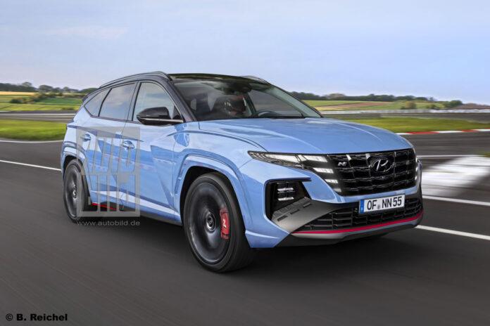 Nuova Hyundai Tucson N 2022, Anteprima Rendering