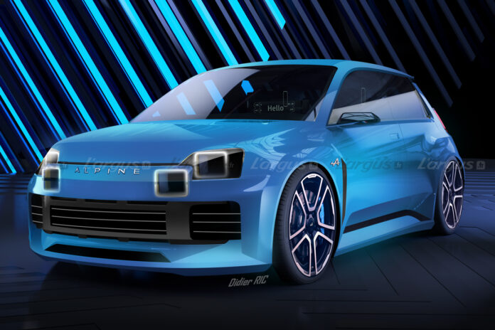 Nuova Renault 5 Alpine 2023, il Rendering della Sportiva Elettrica