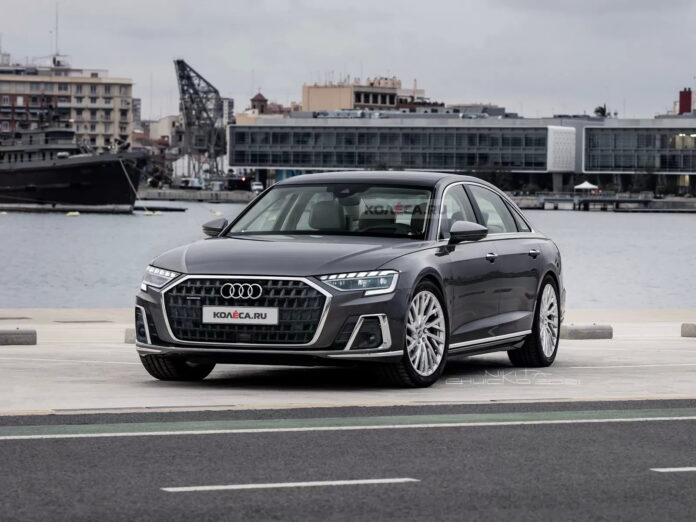 Nuova Audi A8 2022, il Restyling in Anteprima Rendering