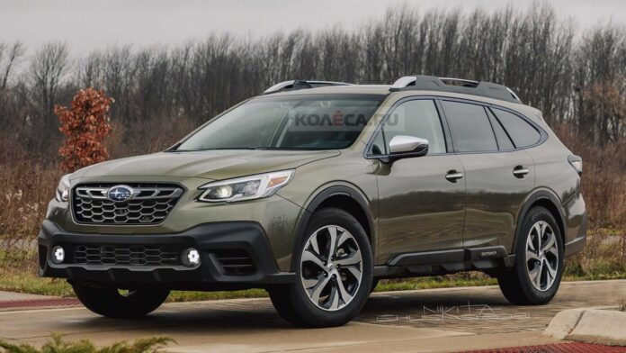 Nuova Subaru Outback 2022, il Restyling in Anteprima Rendering