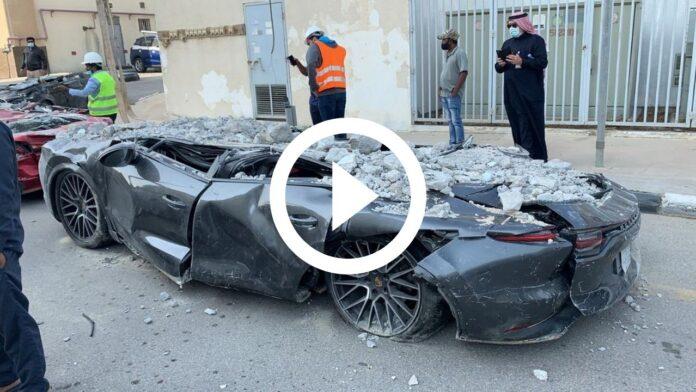 Crolla il parcheggio in Arabia Saudita, è tragedia di Supercar [VIDEO]