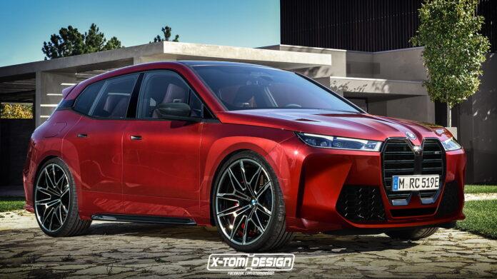 Nuova BMW iX 2022, il Rendering della Versione M