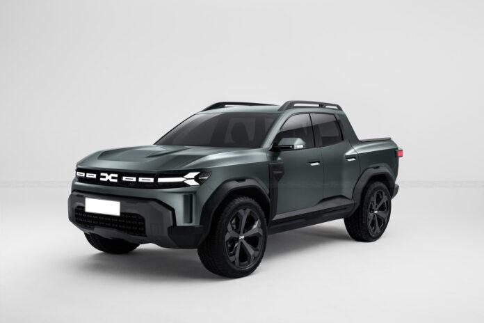 Nuova Dacia Bigster 2022, la Duster pickup in Rendering