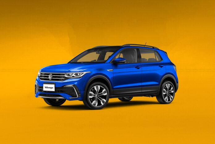 Nuova Volkswagen T-Cross 2022, Restyling in Anteprima Rendering