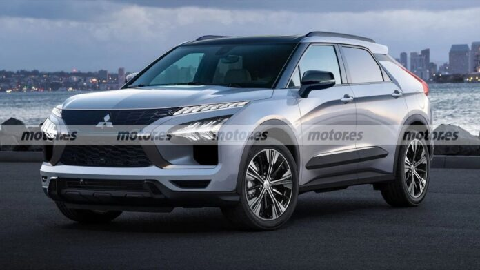 Nuova Mitsubishi e-Evolution 2022, il Crossover Elettrico in Rendering