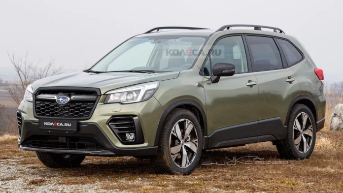 Nuova Subaru Forester 2022, il Restyling in Anteprima Rendering