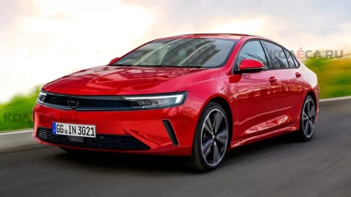 Nuova Opel Insigna 2023, il Rendering in Casa PSA