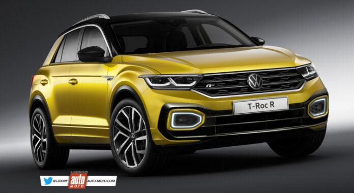 Nuova Volkswagen T-Roc 2022, Restyling in Anteprima Rendering