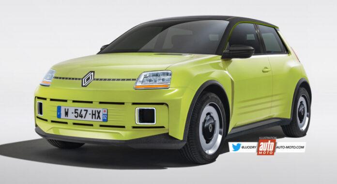 Nuova Renault 5 2023, elettrica in Anteprima Rendering