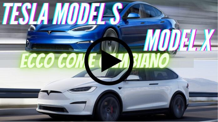 Nuove TESLA Model S e X | dati tecnici sul RESTYLING [Video]