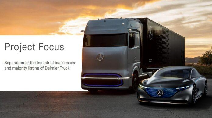 Daimler separa Auto e Camion Mercedes-Benz