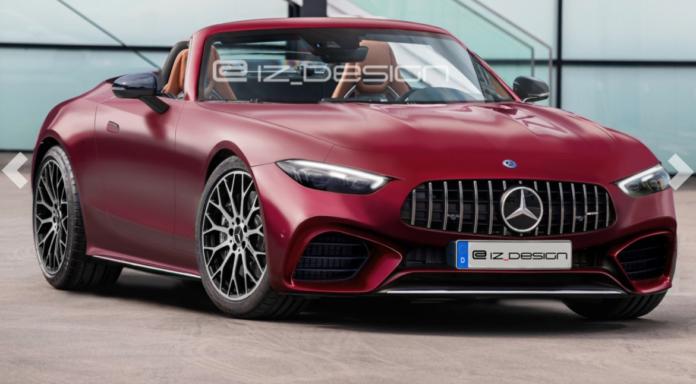 Nuova Mercedes-Benz SL 2022, i Rendering della versione AMG