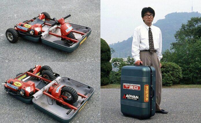 Quando Mazda inventò l'Auto in una valigia Samsonite