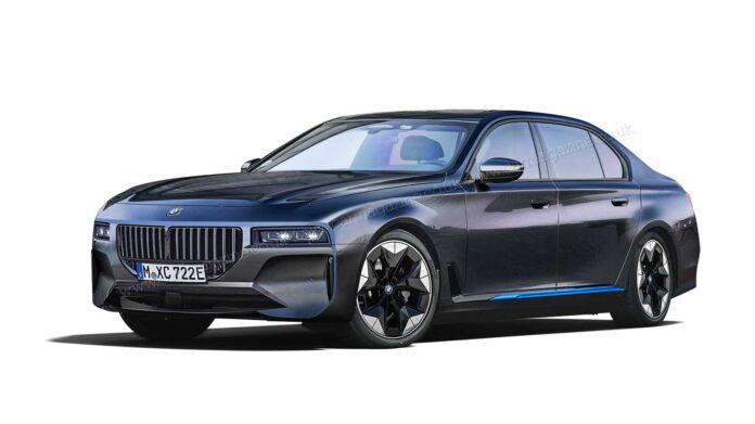 Nuova BMW i7 2022, i Rendering della Top di Gamma elettrica