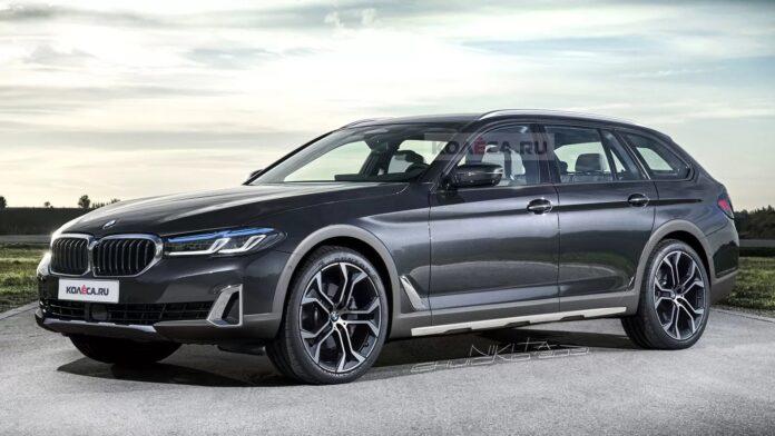 Nuova BMW Serie 5 Touring 2022, Rendering della X Drive