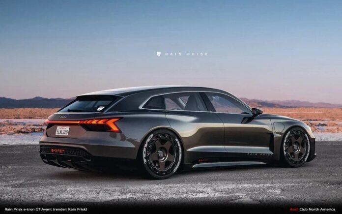 Nuova Audi e-tron GT Avant 2022, Wagon in Anteprima Rendering