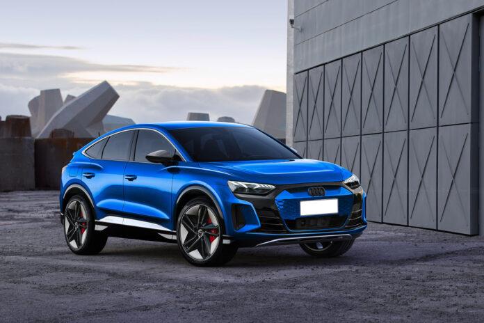 Nuova Audi Q4 e-tron 2022, Rendering della Sportiva RS