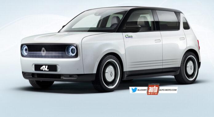 Nuova Renault 4 2022, il Rendering della Elettrica Low Cost