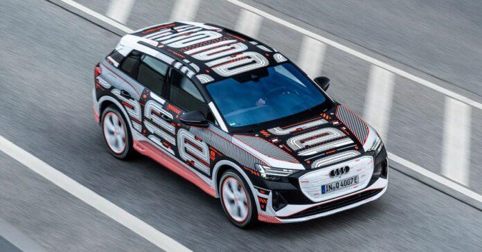 Nuova Audi Q4 e-tron 2022, le prime foto senza veli