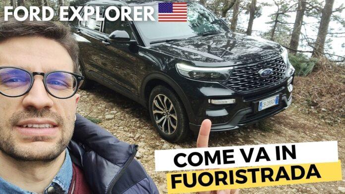 Fuoristrada con l'ENORME Ford Explorer|Ibrido da 457 CV [VIDEO]