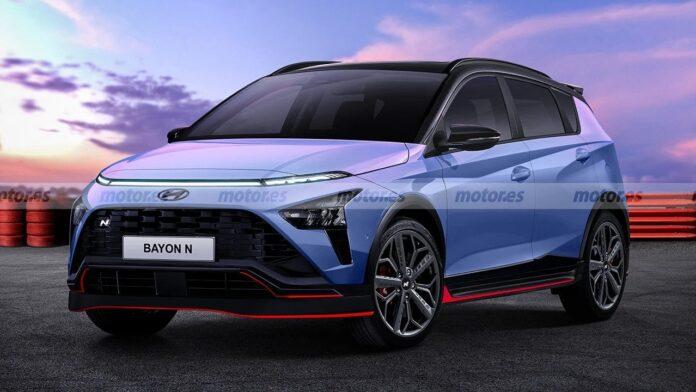 Nuova Hyundai Bayon N 2022, il Rendering sfida Ford Puma ST