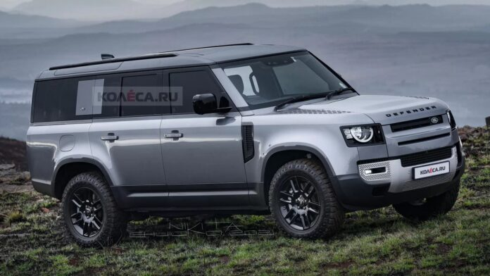 Nuova Land Rover Defender 130 2022, Rendering in Anteprima