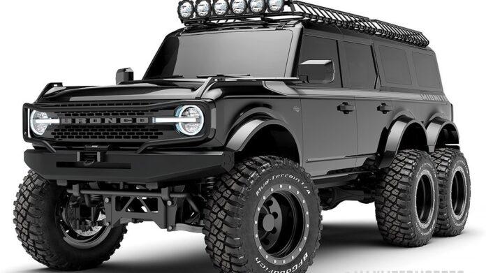 Nuova Ford Bronco 2022, il Rendering del 6X6