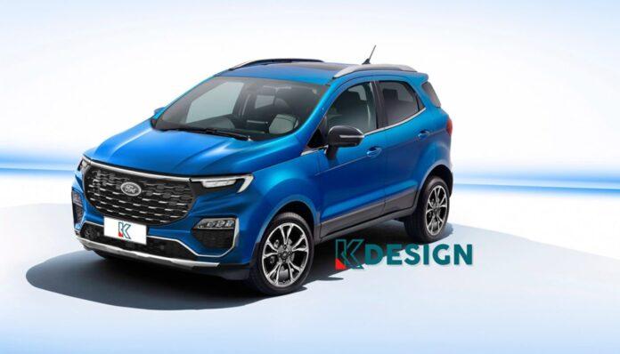 Nuova Ford Ecosport 2022, il Rendering ispirato dalla Evos