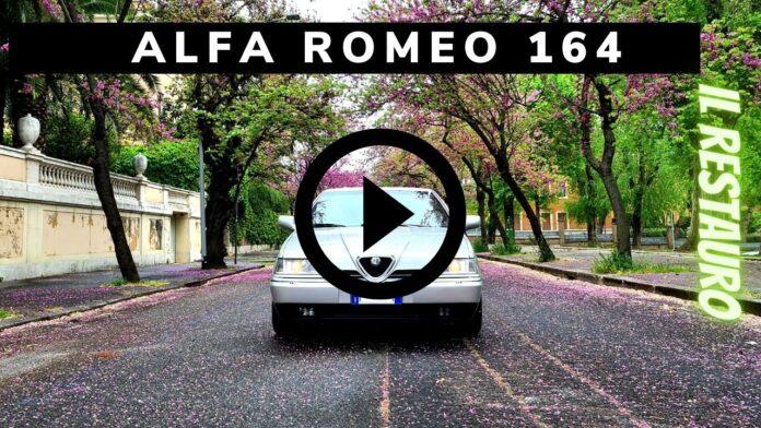 Alfa Romeo 164 V6 Busso 211CV, il Restauro [VIDEO]